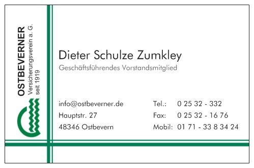Visitenkarte Schulze Zumkley